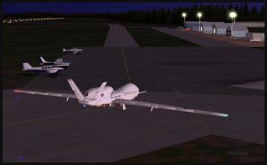 RQ-4B Global Hawk sur la rampe à Williams Lake, Canada (FSX)