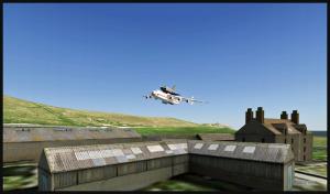 Antonov 225 avec la navette Bourane en approche finale de Sumburgh, Scotland (FSX)