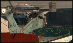 UH-60L Blackhawk (FSX) short final for the helipad