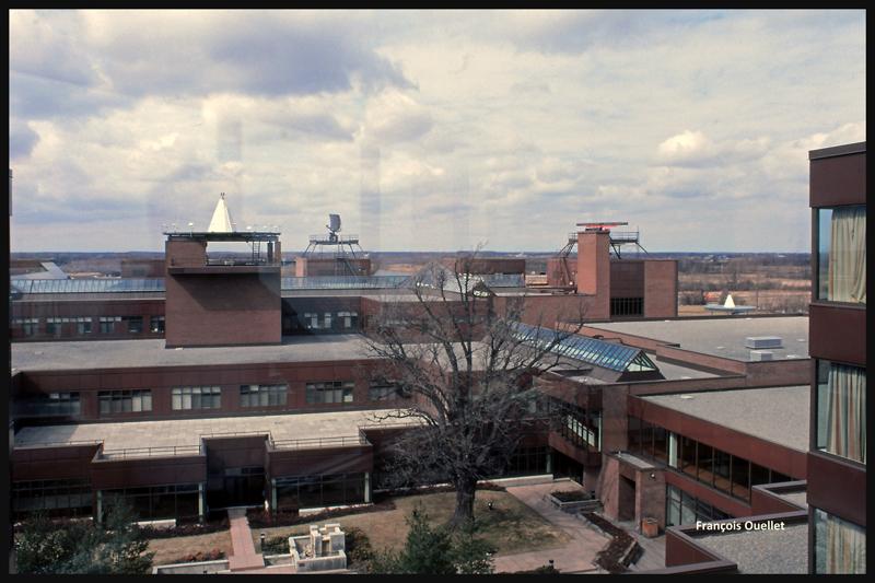 Vue d'une petite partie de l'Institut de formation de Transports Canada à Cornwall, en 1982.