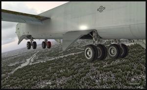 Boeing B-52 avec piste en vue à Anchorage (FSX)