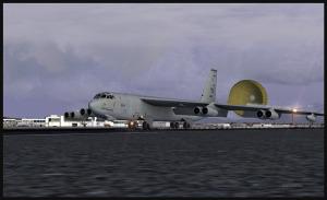 Boeing B-52 et parachute sur l'arrivée à Anchorage (FSX)