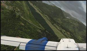 Twin Otter vire en finale pour la piste de Kokoda, Papouasie Nouvelle-Guinée