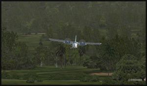 Twin Otter en approche basse pour Kokoda