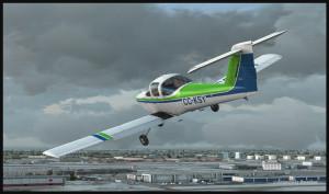 Piper Tomahawk PA-38 vire en finale pour la piste 28 à l'aéroport international Montréal Pierre-Elliott-Trudeau (FSX)