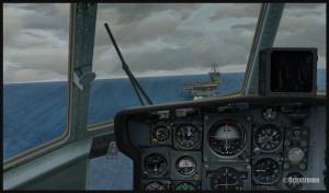 C-130 canadien en finale pour le porte-avions USS Enterprise