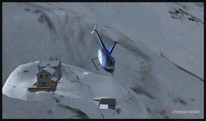 Hélicoptère R66 décolle du Refuge du Requin (DZRR) FSX