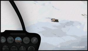 R66 en approche du Refuge de l'Argentière DZRA