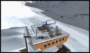 R66 sur le toit du Refuge de l'Argentière DZRA FSX