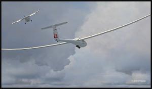 Le lien est finalement coupé entre l'avion et le planeur DG-808S (fsx)