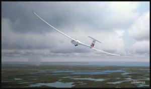 Planeur DG-808S au-dessus de la région de Parry Sound, Ontario (fsx)