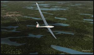 Un planeur DG-808S tourne en base pour l'aéroport de Parry Sound (FSX)