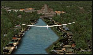 Planeur DG-808S au-dessus de Robert's Lake (FSX)