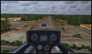 Planeur DG-808S en courte finale pour la piste 35 à Parry Sound (FSX)