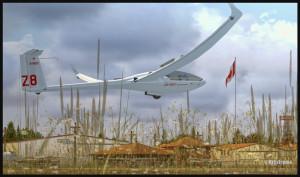 Un planeur DG-808S et le drapeau Canadien à Parry Sound, Ontario (fsx)