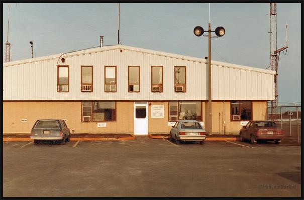 Ancienne station d'information de vol de Rouyn-Noranda. Photo prise en 1984