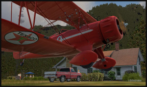 WACO atterrissant à Bear Gulch WA38 (FSX)