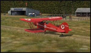 Un avion Waco de la compagnie Texaco circule à Bear Gulch, WA38