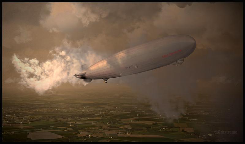 D-LZ127 Graf Zeppelin au-dessus de l'Allemagne (FSX)