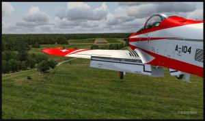 Avion PC-21 en finale pour l'aéroport de Fairoaks, Royaume-Uni