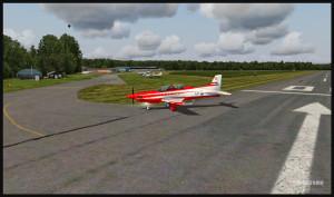 PC-21 et l'aéroport de Fairoaks, Royaume-Uni
