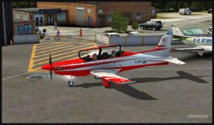 Pilatus PC-21 sur l'aéroport de Fairoaks (FSX)