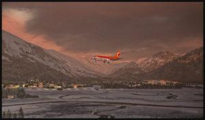 B-737 de CP Air en approche pour l'aéroport de Juneau en Alaska