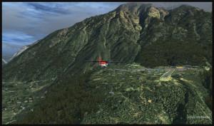 Un avion Twin Otter est en approche pour la piste 06 de Lukla