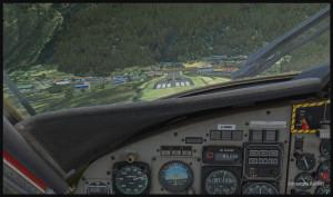 Un avion Twin Otter est en courte finale piste 06 pour Lukla