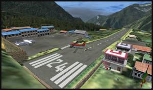 Un avion Twin Otter de la compagnie Kenn Borek sort de piste à Lukla