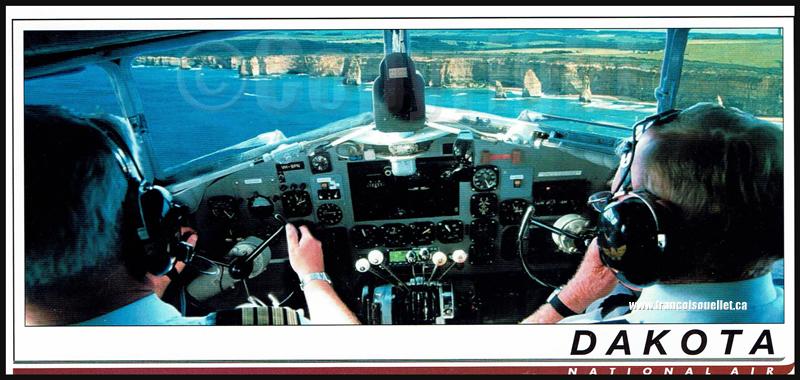 "Dakota DC-3 ""The DC-3 specialists"" de National Air sur carte postale aviation"