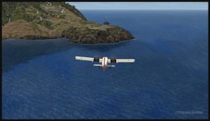 30314 Un avion Twin Otter en longue finale pour Saba (FSX)