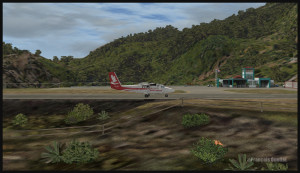 30317 Un avion Twin Otter arrive à Saba (FSX)