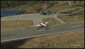 30320 Un Twin Otter de la compagnie Royal Tongan quitte la piste à Saba (FSX)