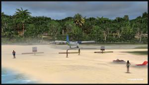40021 Un peu de sable soufflé sur les baigneurs à St Barths TFFJ (FSX)