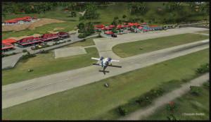 40022 Un Twin Otter de Solomons quitte la piste de St Barths TFFJ (FSX)