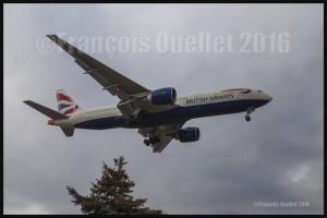 British Airways Boeing 777-236 G-ZZZA à Toronto 2016