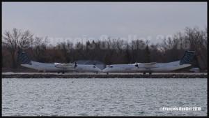 Porter Q-400 C-GLQM et C-GLQB à Toronto CYTZ 2016