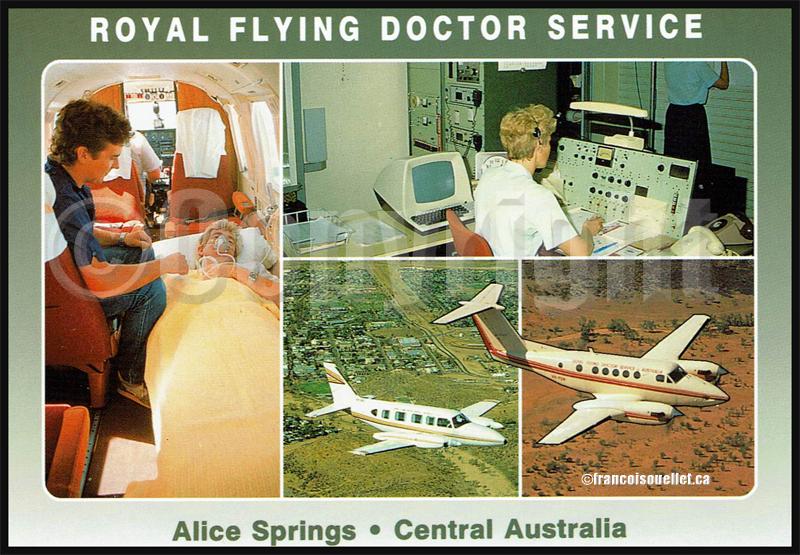 Royal Flying Doctor Service of Australia sur carte postale aviation