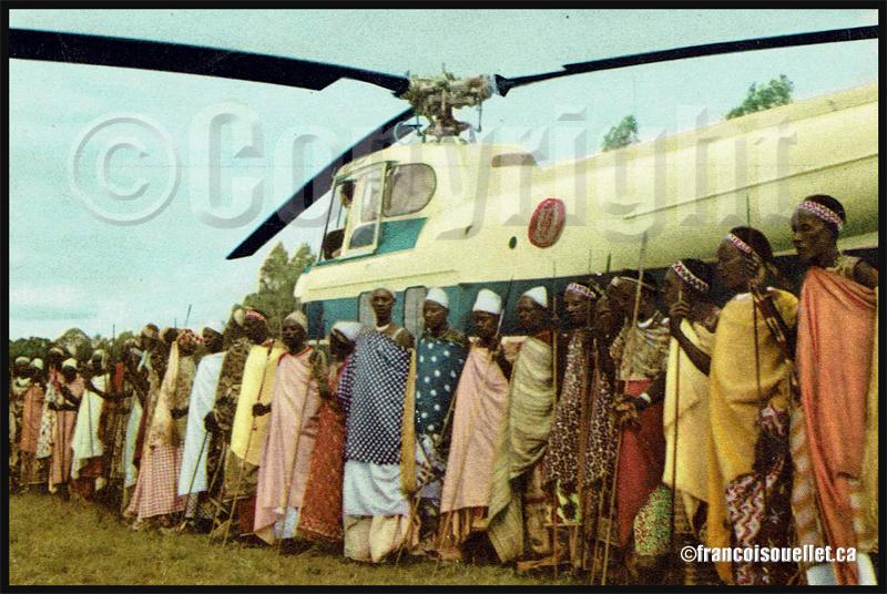 Voyage du roi au Congo sur carte postale aviation