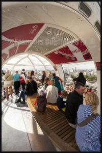 Photos de l'Angleterre: vue de l'intérieur d'une nacelle du London Eye en 2015
