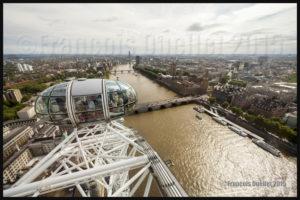 Photos de l'Angleterre: vue de Londres à partir du London Eye en 2015