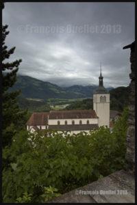 Vue à partir du Château de Gruyères, Suisse, en HDR 2013