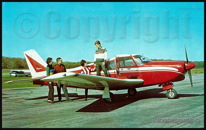 Piper Comanche 250 appartenant au Paradise Valley Lodge, USA, et passagers prêts à faire une randonnée