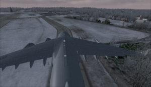 Avion militaire canadien C17-A sur la voie de circulation à l'aéroport virtuel de Block Island (KBID) aux États-Unis (FSX)