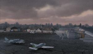 Avion militaire canadien C17-A à l'aéroport virtuel de Block Island (KBID) aux États-Unis (FSX)