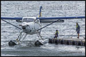 Turbo Otter C-FLAP de Saltspring Air dans le Port de Vancouver 2016