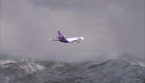 MD-11 de FedEx en route de Eagle County airport (KEGE) vers Telluride (KTEX) (FSX)