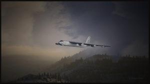 Nuages virtuels de la compagnie REX et plateforme de simulation de vol FSX