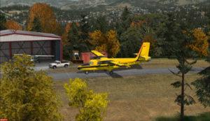 Arrivée à Limberlost Ranch du Twin Otter C-FOPG